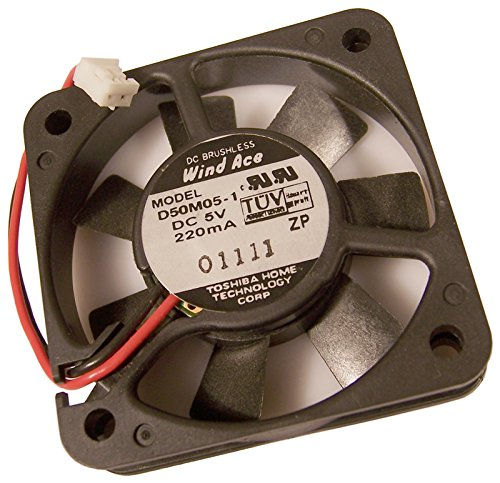 Toshiba - Toshiba Wind Ace DC 5v 220mA Fan Assy D50M05-1 50x50x10mm Brushless - (Toshiba Dc Fan)