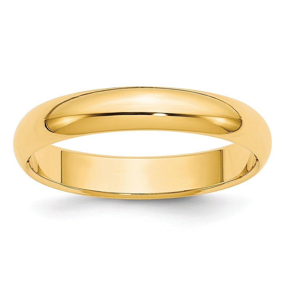 Top 10 Jewelry Gift 14k 4mm Half-Round Wedding Band