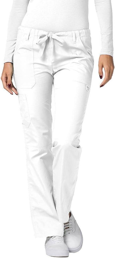 Adar Medical Uniform Women/'s Pull On Scrub Pants Size Large White Cargo Pockets