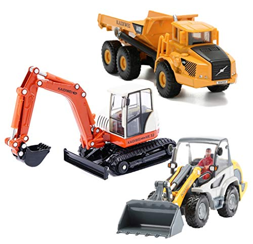 - HAPISIMI Vehicle Toys, Construction Site Play Set, Learning, Early Development, Educational Dump Truck, Excavator, Radlader Gift for 3, 4, 5, 6 Year Olds Toddlers, Boys, Kids 3pcs