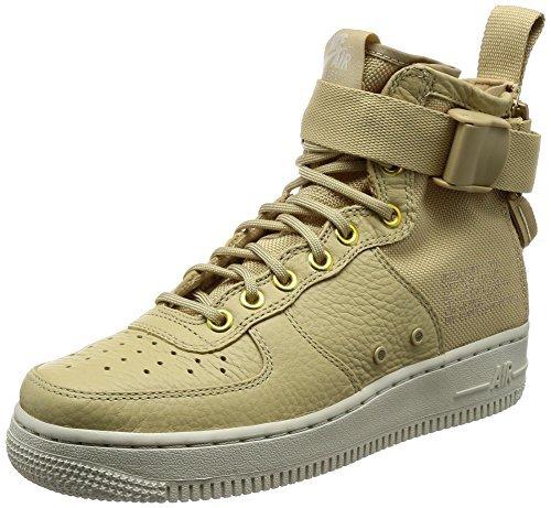 Nike SF Air Force 1 Mid Womens Shoes Mushroom/Light Bone champignon aa3966-200 (5 B(M) US) by NIKE