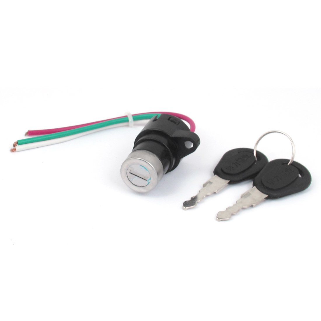 sourcingmap Ignition Start 3-Wire Motorcycle Motorbike Electric Key Switch Lock a15081800ux0282