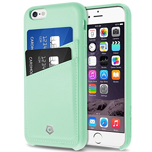 Compatible with iPhone 6S Case, Cobble Pro Premium Handcrafted [Ultra Slim] Leather Back Case Cover with ID Credit Card Slot Holder Compatible with Apple iPhone 6S / iPhone 6 (4.7