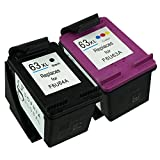 Sophia Global Remanufactured Ink Cartridge Replacement for HP 63XL (1 Black, 1 Color)