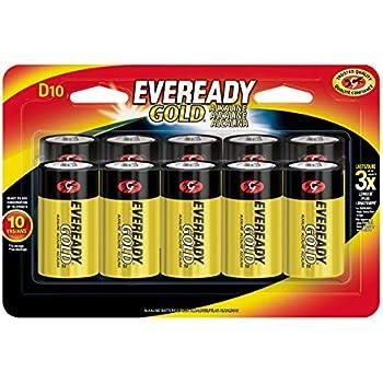 Amazon.com: Eveready Gold D Cell Alkaline Batteries, Long