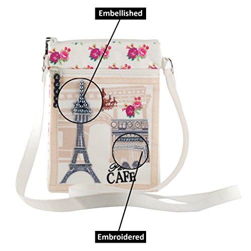 Caf�� shoulder slingbag purse Paris girls bag smooth travel Crossbody zipper tote women qH7wtPPf