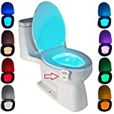 Toilet Night Light Motion Activated by ZSZT, Two Modes with 8 Color Changing, Sensor LED Washroom Night Light Fits Any Toile