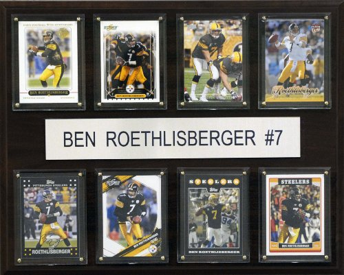 C I Collectables Nfl Ben Roethlisberger Pittsburgh Steelers 8 Card Plaque