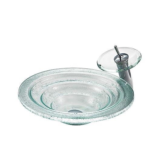 QJJML Lavabo De Cristal Templado, Lavabo del Arte del Estilo ...