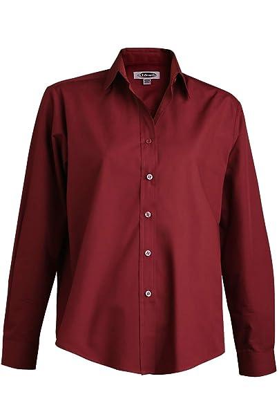 259c90ca Amazon.com: Edwards Ladies' Long Sleeve Value Broadcloth Shirt: Clothing