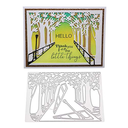 Hukai Street Metal Cutting Dies Stencil DIY Scrapbooking Album Stamp Paper Card Embossing Crafts Decor,Good Gift for Your Kids to Cultivate Their Hands-on Ability