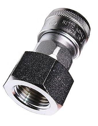 218 PSI Nitto Kohki Hi Cupla 30SF-NPT Quick Connect Pneumatic Coupler Socket NPT Thread Female Steel 3//8 Size 3//8 Size