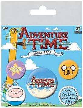 Hora de Aventuras Pack 5 Chapas: Amazon.es: Hogar