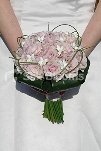 (Lilac Real Touch Rose Wedding Bridal Bouquet with Stephanotis)