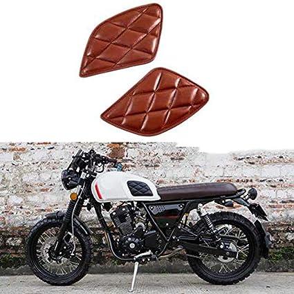 Tiamu Adesivo Serbatoio Moto Protezione Serbatoio Moto retr/ò Decorazione Vintage Cafe Racer Style Knee Grip Moto Tank Pad Nero
