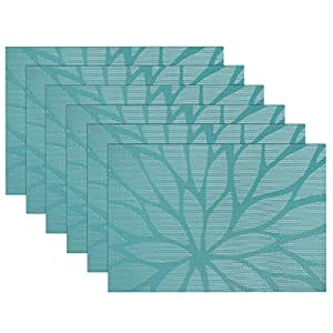 Amazon Com Sicohome Placemats Set Of 6 Dining Room