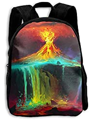The Childrens Colorful Sky Volcano Aweome Backpack