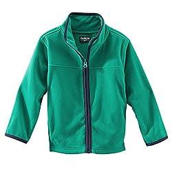 Oshkosh B'gosh Little Boys' Fleece Zip up Jacket - Green - 2 Toddler