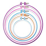 Arts & Crafts : Caydo 5 Pieces Embroidery Hoops Cross Stitch Hoop Embroidery Circle Set, 5 inch to 11 inch (Multicolor)