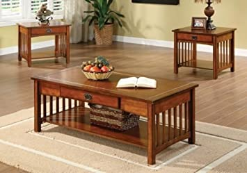 Amazon Com 1perfectchoice 3pc Seville Mission Style Living Room