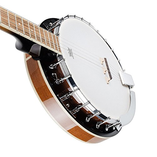Vangoa 5 String Banjo Remo Head Closed Solid Back with beginner Kit, Tuner, Strap, Pick up, Strings, Picks and Bag by Vangoa (Image #6)