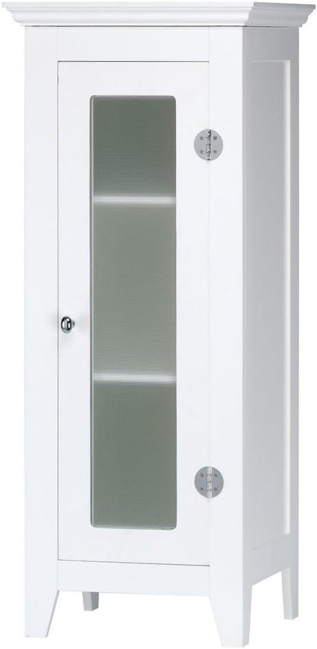 Gifts & Decor Wood White Finish Home Decor Bathroom Storage Cabinet