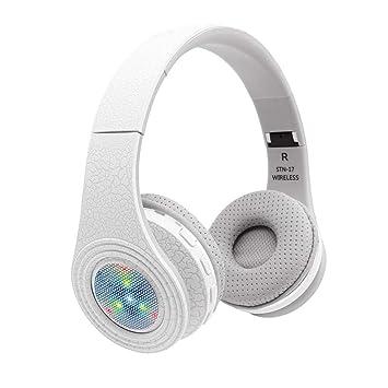 Jintime Auriculares Bluetooth inalámbricos, Bluetooth 4.1, cancelación de ruido sobre los oídos, auriculares