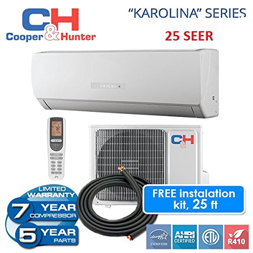 25-seer-karolina-12000-btu-ductless-mini-split-heat-pump-free-25ft-line-set-with-wifi