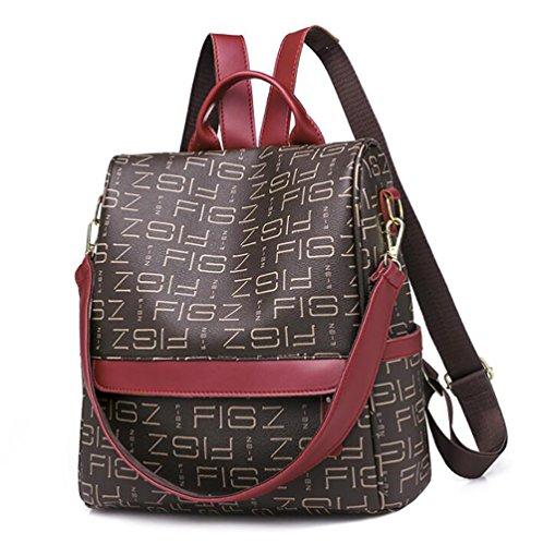 mode souple 28 sac cuir femmes 15 30cm à PU la à sac en Sac multifonctionnel des dos de décontracté main TxnwvqEq