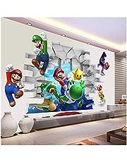 WANGJIA Muurstickers & muurschilderingen Super Mario Muurstickers voor Kinderkamer Decoratie Cartoon Game Fans Muurstickers Kunst Kinderen Verjaardagscadeau