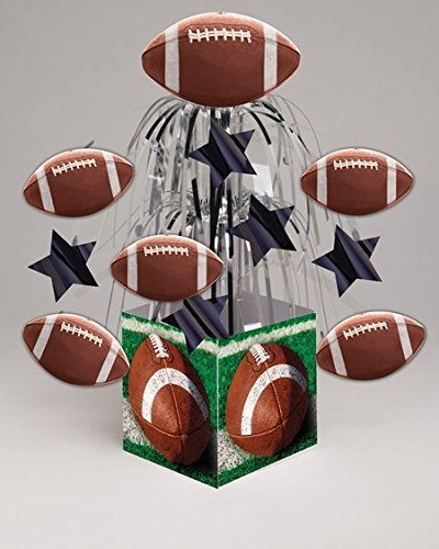 Pack of 6 Tailgate Rush Football Themed Tabletop Centerpiece Party Decorations 8.5