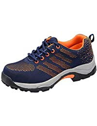 Optimal Women's Safety Shoes Work Shoes Comp Steel Toe Shoes