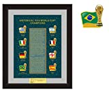 FIFA World Cup Historical Champions Trophy Pin Set - Limited 5,000