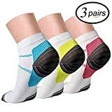 Compression Socks (3 Pairs),15-20 mmhg is BEST Athletic & Medical for Men & Women, Running, Flight, Travel, Nurses - Boost Performance, Blood Circulation & Recovery (S/M)