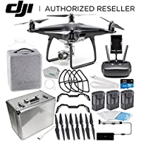 DJI Phantom 4 PRO Obsidian Edition Drone Quadcopter (Black) Ultimate Aluminum Case Travel Bundle