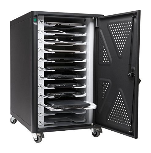 - Kensington AC12 Security Charging Cabinet for Tablets, Chromebooks, 2 in 1 Laptops (K64415NA)