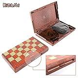 KIDAMI Folding Magnetic Travel Chess Set with 2