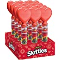 12 Pack SKITTLES Original Valentine's Candy Tube With Heart Topper