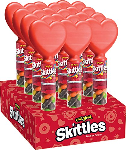 SKITTLES Original Valentine's Candy Tube With Heart for sale  Delivered anywhere in USA