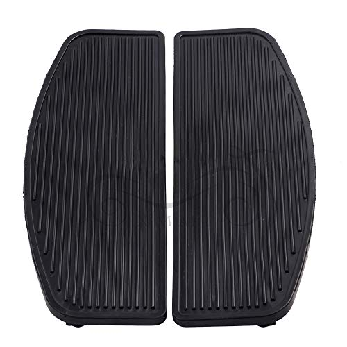 Frames & Fittings Front Rubber Rider Insert Floorboard Footboards Foot peg Pad for Harley Touring Electra Road Glide - Inserts Rider