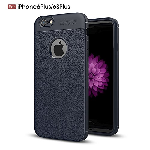 4' Turbo Back Kit (iPhone 6s Plus Case, TOODAY [All New Design] [Anti-Scratch] Ultra Slim Soft Flexible Silicone Gel Rubber Back Cover with Hard PC Armor Shockproof Case for iPhone 6s Plus/ iPhone 6 Plus (Navy))