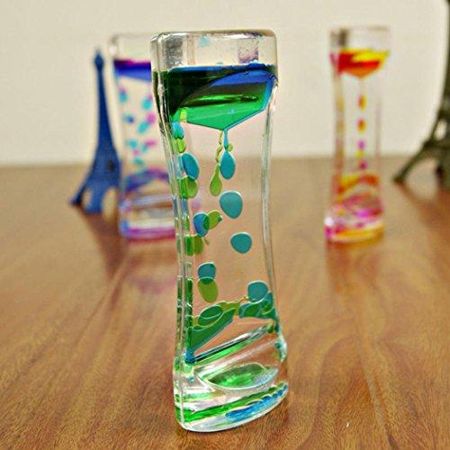 Double Colors Oil Droplets Hourglass Liquid Floating Motion Bubbles Timer...