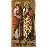Canvas Prints Of Oil Painting 'Carlo Crivelli - Saints Peter And Paul,probably 1470s' 18 x 35 inch / 46 x 89 cm , Polyster Canvas Is For Gifts And Hallway, Kitchen And Powder Room Decoration, decor