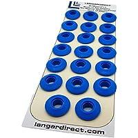 Langard 12 mm Bleu Snap 'n' robinet Oeillets Lot de 20 pcs