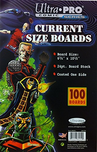 Ultra Pro Comic Bags (Ultra Pro Current Size Boards, 6.75 X 10.5 (100 Count Pack))