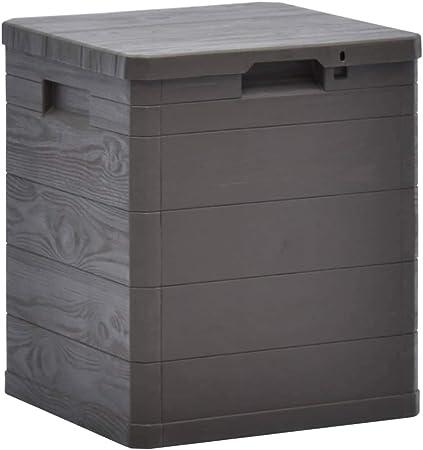 ghuanton Caja de Almacenamiento de jardín 90 L marrónMobiliario Mobiliario de Exterior Cajas de almacenaje para Exteriores: Amazon.es: Hogar