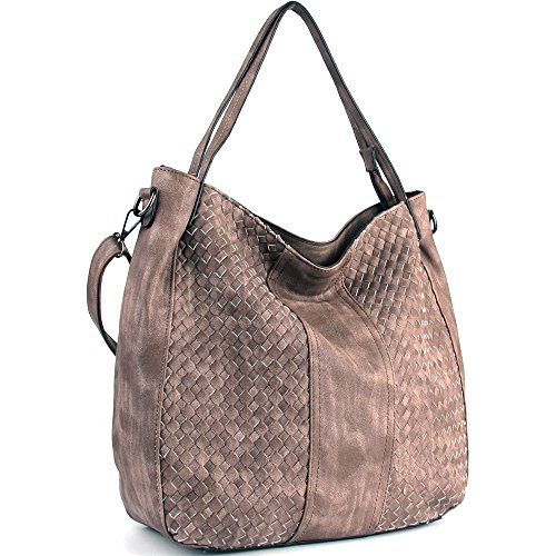 Hobo Buddha - WISHESGEM Women Handbags Top-Handle Fashion Hobo Tote Bags PU Leather Shoulder Satchel Bags Light Coffee
