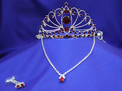(Ruby Tiara and Necklace D'Italia Set)