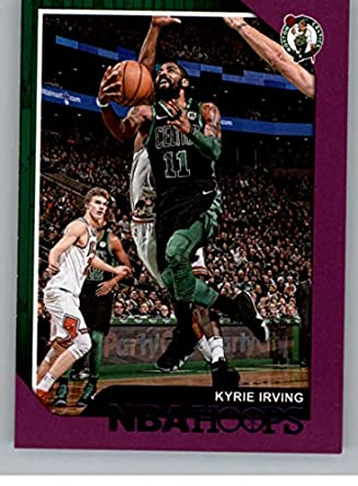 8d3c1a3a3e559 Amazon.com: 2018-19 NBA Hoops Purple #96 Kyrie Irving Boston Celtics ...