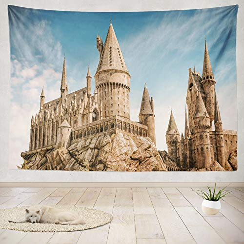 "ONELZ Decor Collection,Hogwarts Castle The Wizard World of Harry Potter in Universal Studios Hollywood Bedroom Living Room Dorm Wall Hanging Tapestry 50"" L x 60"" W Polyester & Polyester Blend"